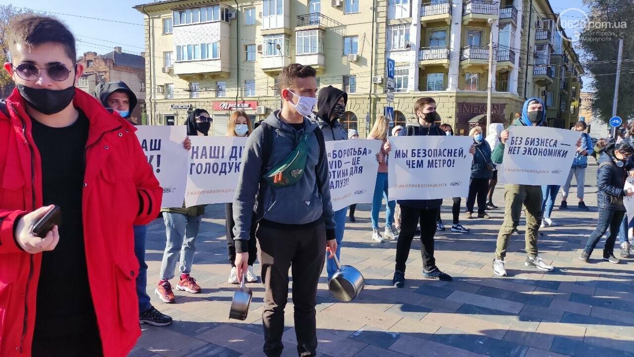 В Мариуполе рестораторы протестуют против карантина выходного дня, - ВИДЕО, фото-18