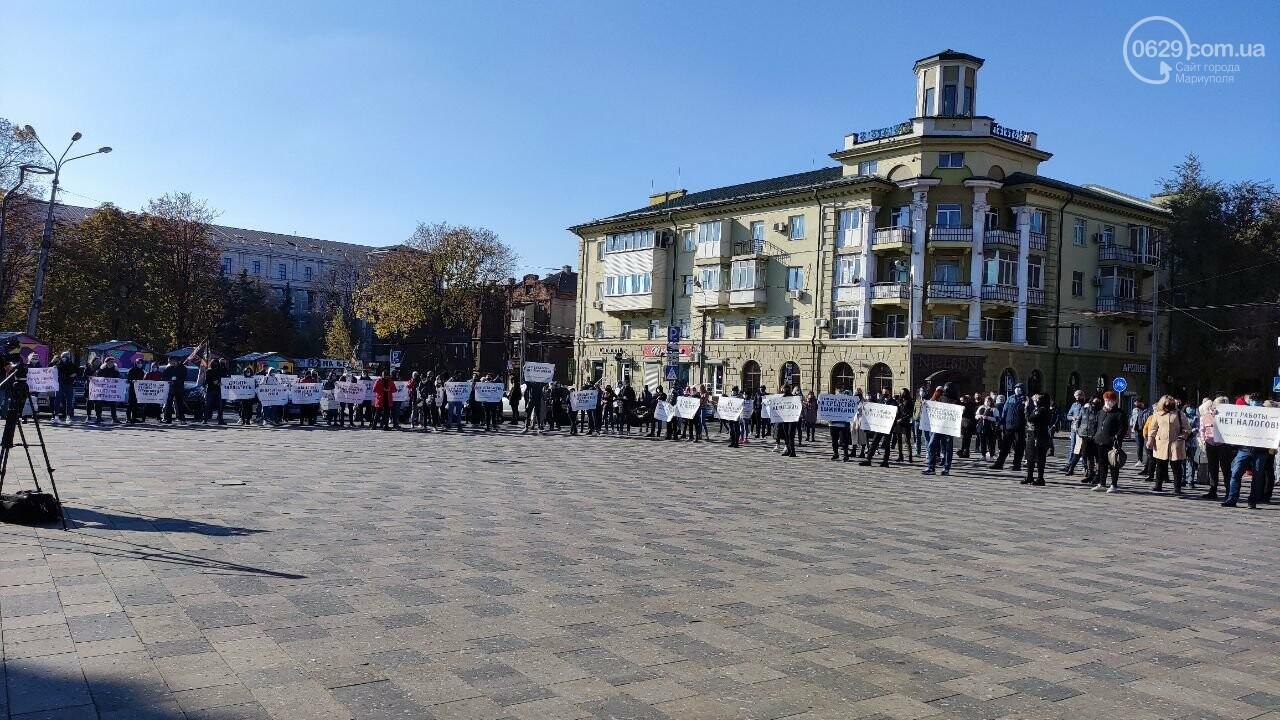 В Мариуполе рестораторы протестуют против карантина выходного дня, - ВИДЕО, фото-27