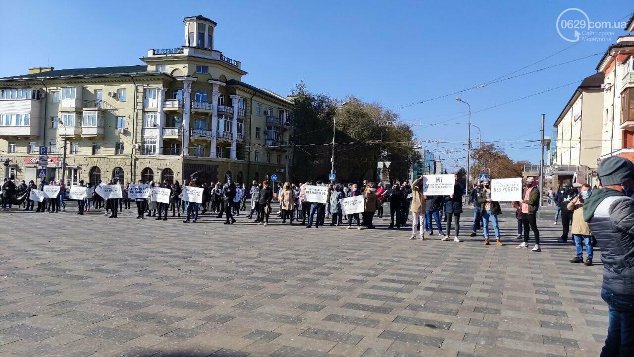 В Мариуполе рестораторы протестуют против карантина выходного дня, - ВИДЕО, фото-28
