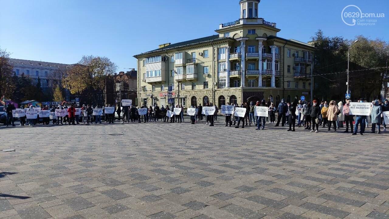 В Мариуполе рестораторы протестуют против карантина выходного дня, - ВИДЕО, фото-33