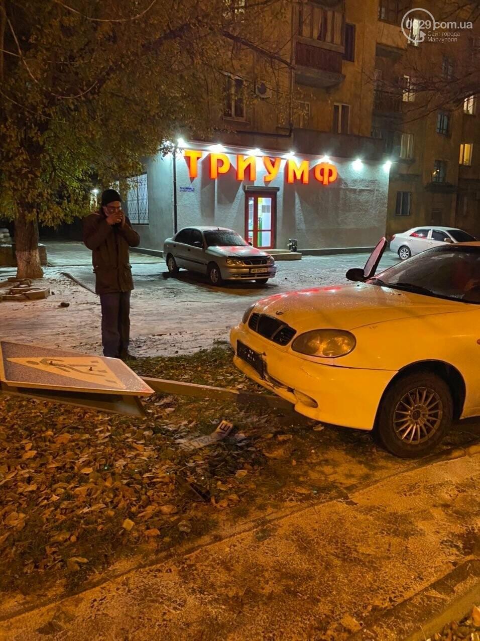 Снег выпал. В Мариуполе сразу несколько аварий на скользких  дорогах,- ФОТО, фото-3