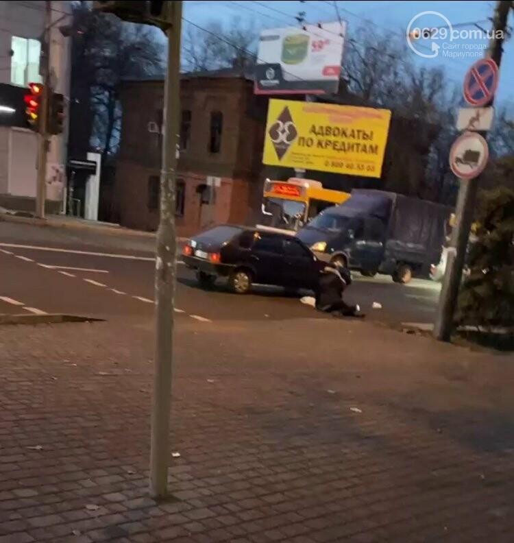 В центре Мариуполя ВАЗ  сбил женщину,-ФОТО, фото-1