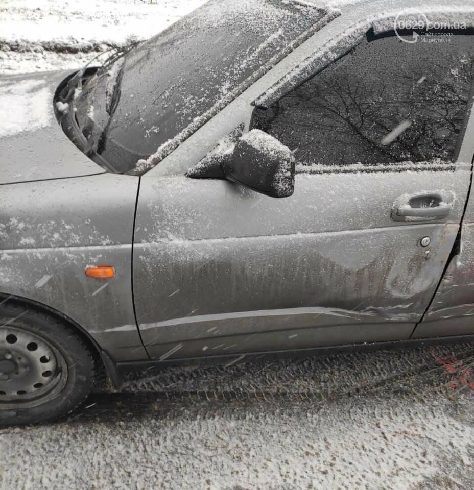 Снегопад. В Мариуполе резко увеличилось число аварий,- ФОТО, фото-6