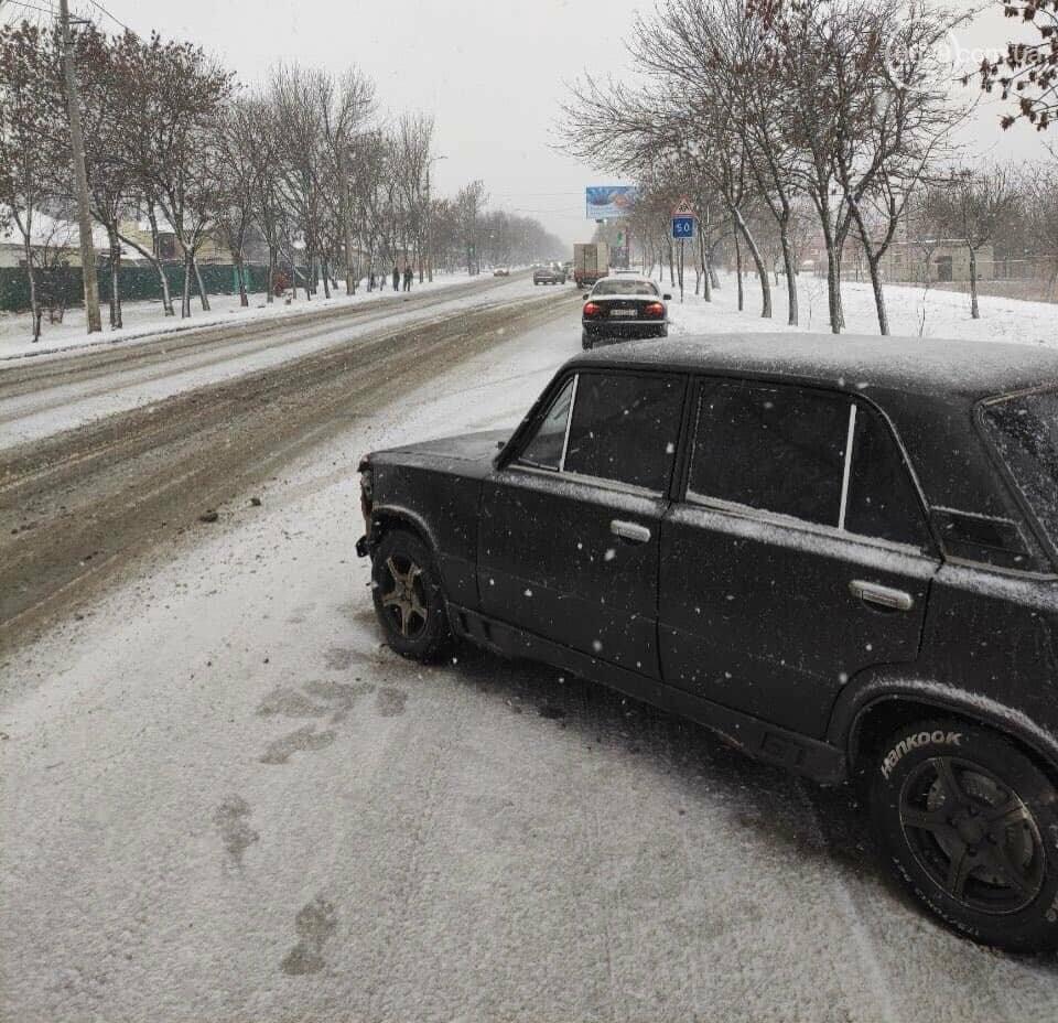 Снегопад. В Мариуполе резко увеличилось число аварий,- ФОТО, фото-5