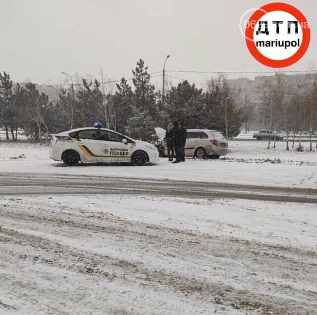 Снегопад. В Мариуполе резко увеличилось число аварий,- ФОТО, фото-4