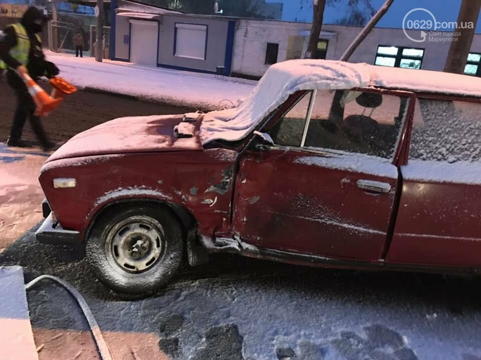 Снегопад. В Мариуполе резко увеличилось число аварий,- ФОТО, фото-2