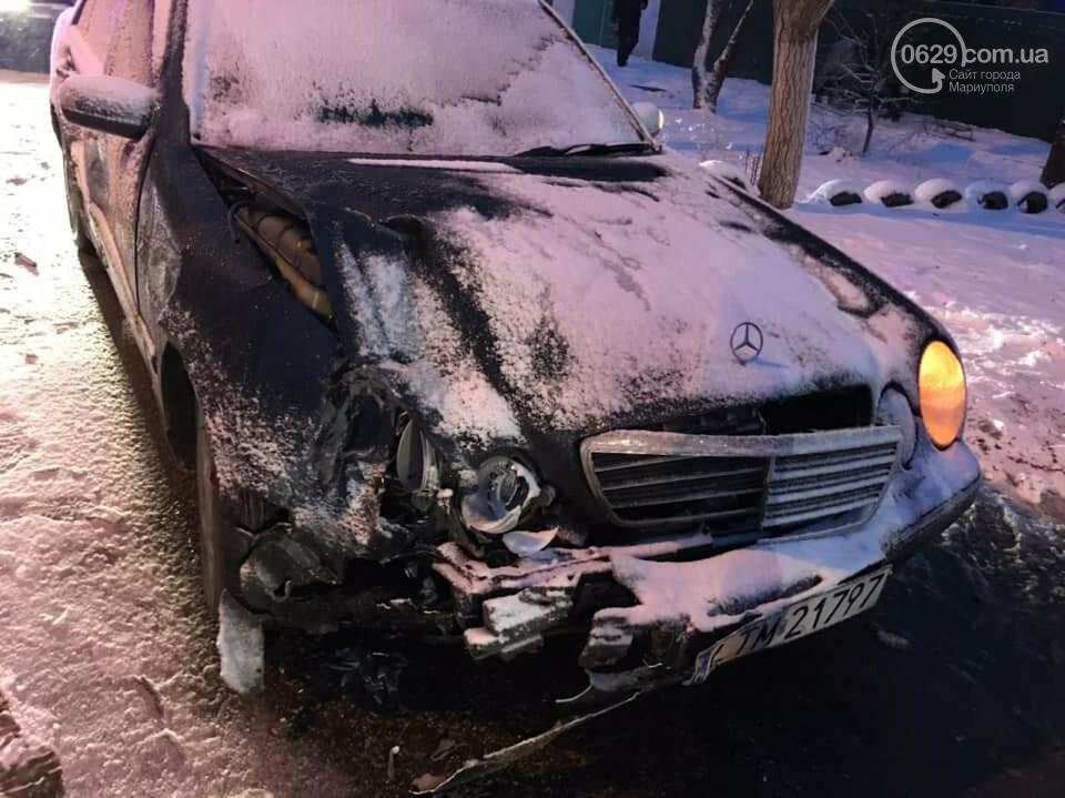 Снегопад. В Мариуполе резко увеличилось число аварий,- ФОТО, фото-3