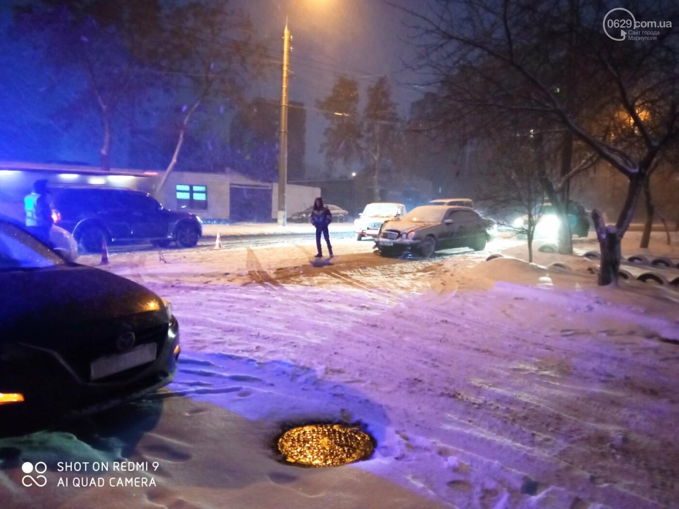 Снегопад. В Мариуполе резко увеличилось число аварий,- ФОТО, фото-8