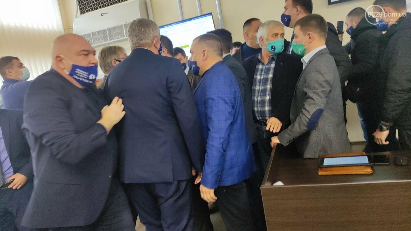 Драка в сессионном зале Мариуполя. Бойченко призвал правоохранителей и объявил перерыв, - СТРИМ, ФОТО, фото-11