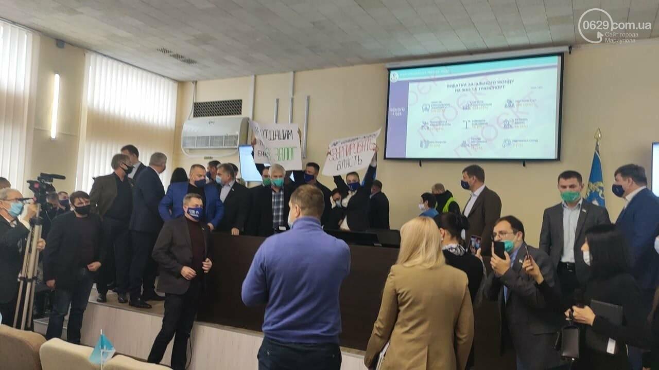 Драка в сессионном зале Мариуполя. Бойченко призвал правоохранителей и объявил перерыв, - СТРИМ, ФОТО, фото-14