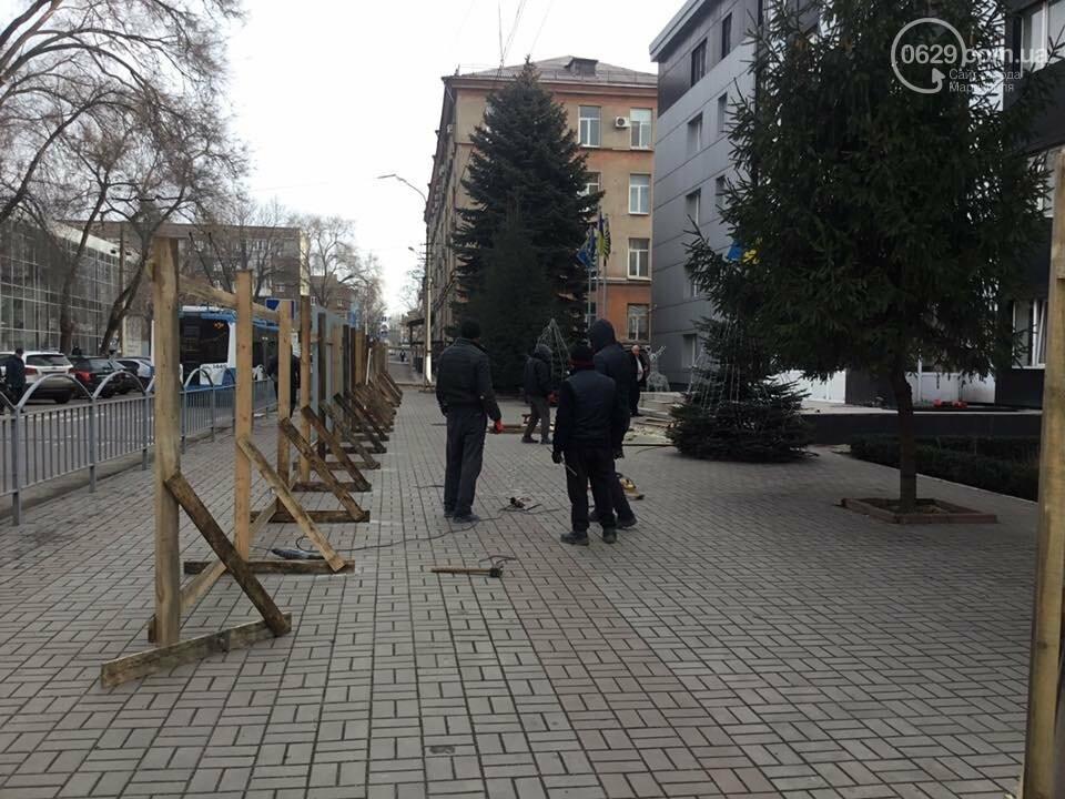 Забор раздора. В Мариуполе огораживают  областную прокуратуру, - ФОТО, ВИДЕО, фото-1