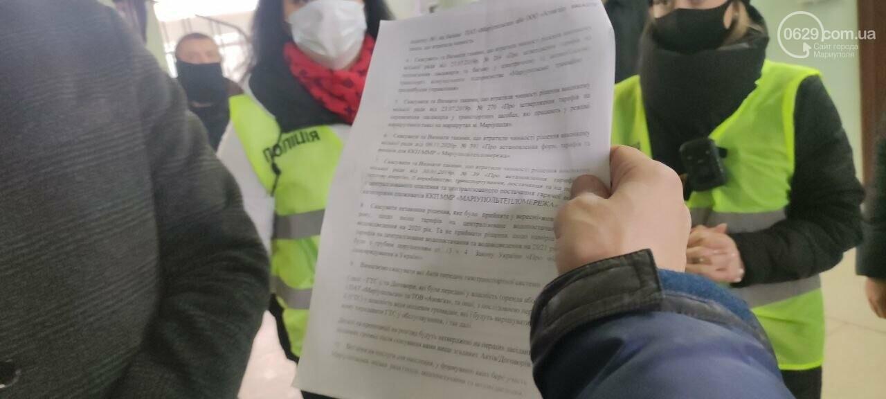 Тарифный митинг. Активистов не пустили на сессию Мариупольского горсовета, - ФОТОРЕПОРТАЖ, ВИДЕО, фото-10