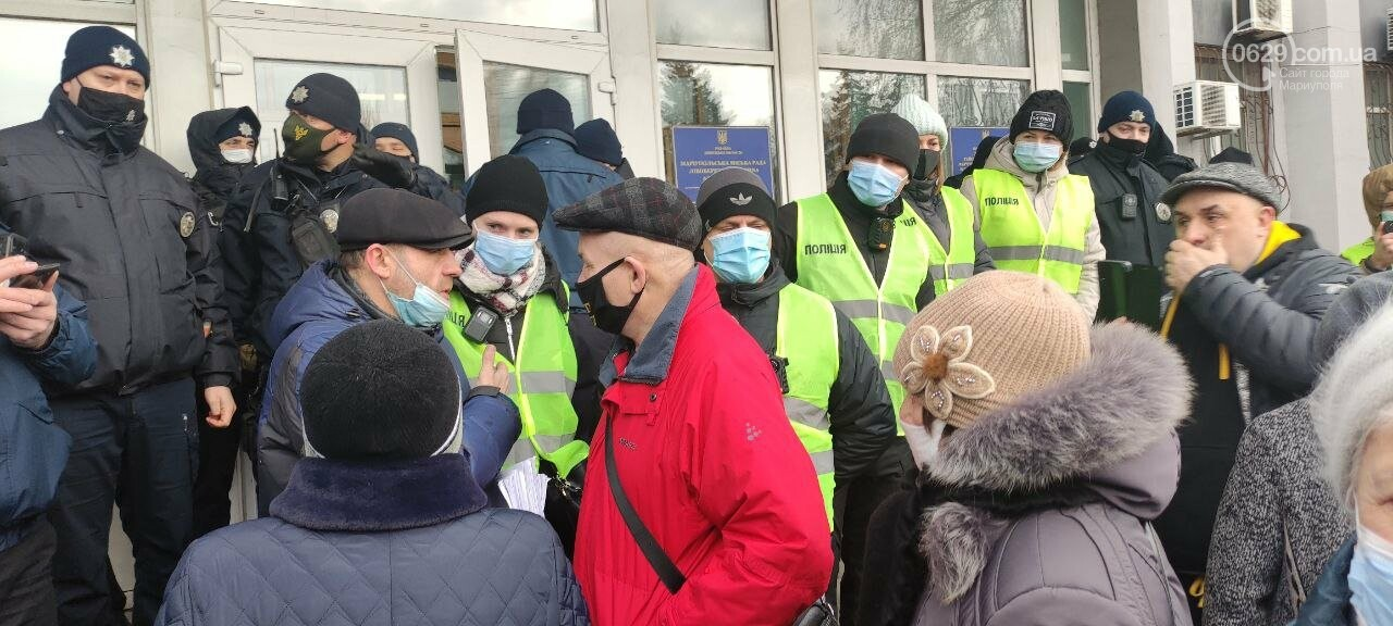 Тарифный митинг. Активистов не пустили на сессию Мариупольского горсовета, - ФОТОРЕПОРТАЖ, ВИДЕО, фото-3