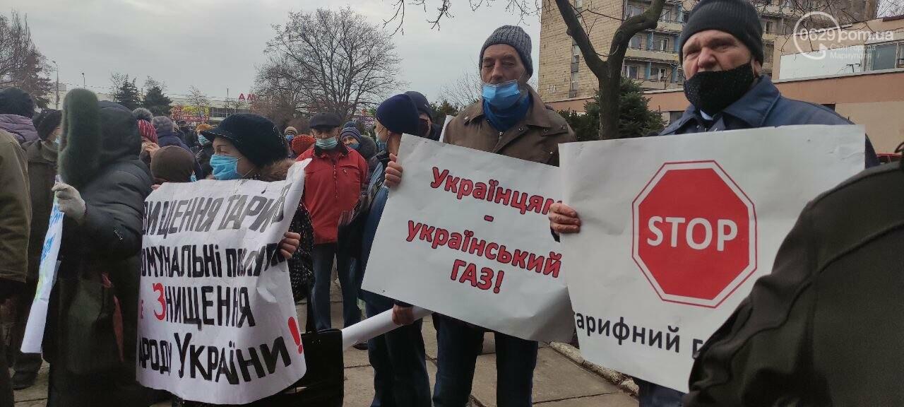 Тарифный митинг. Активистов не пустили на сессию Мариупольского горсовета, - ФОТОРЕПОРТАЖ, ВИДЕО, фото-18