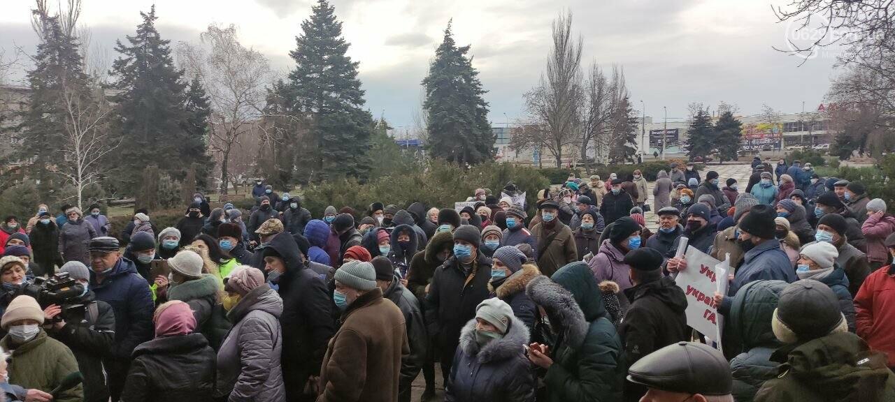 Тарифный митинг. Активистов не пустили на сессию Мариупольского горсовета, - ФОТОРЕПОРТАЖ, ВИДЕО, фото-19