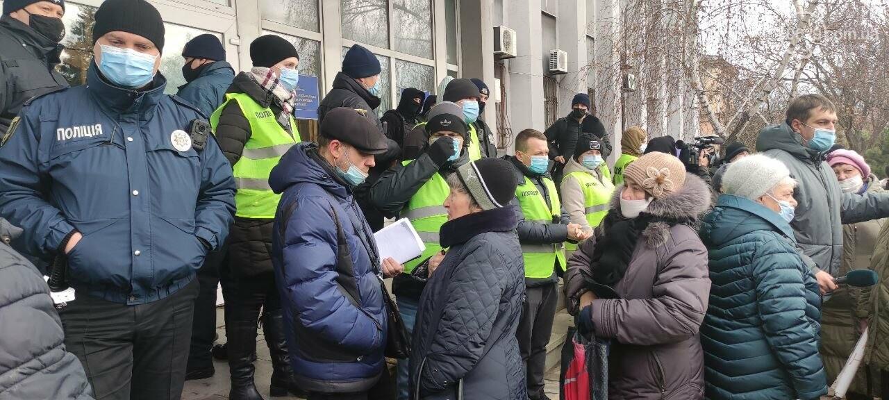 Тарифный митинг. Активистов не пустили на сессию Мариупольского горсовета, - ФОТОРЕПОРТАЖ, ВИДЕО, фото-20