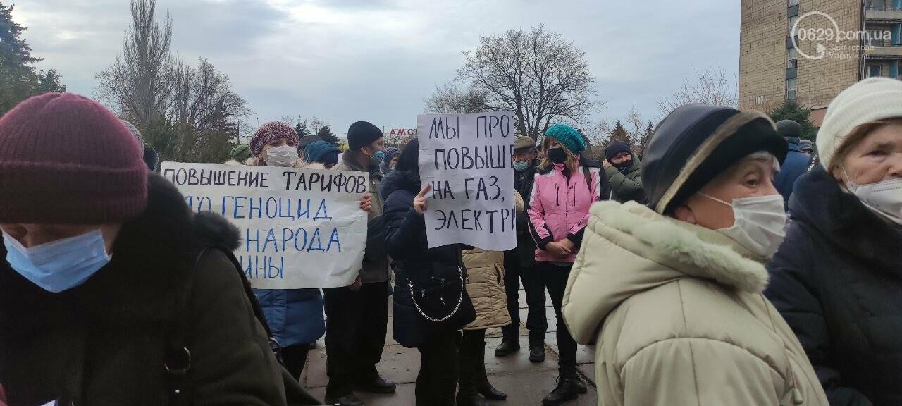 Тарифный митинг. Активистов не пустили на сессию Мариупольского горсовета, - ФОТОРЕПОРТАЖ, ВИДЕО, фото-21