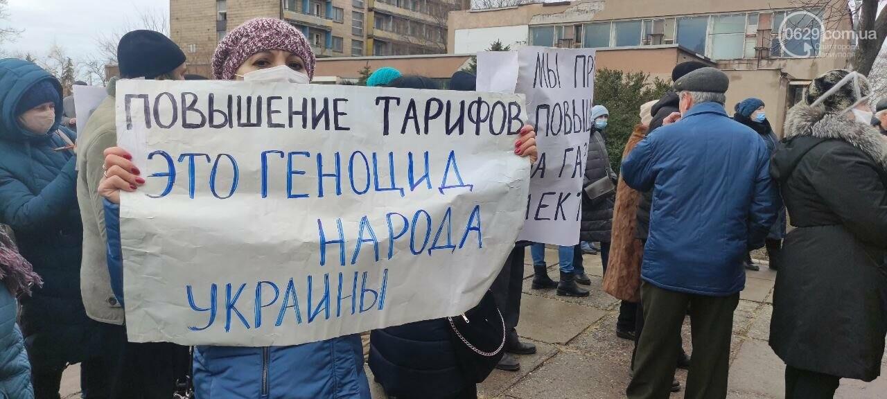 Тарифный митинг. Активистов не пустили на сессию Мариупольского горсовета, - ФОТОРЕПОРТАЖ, ВИДЕО, фото-1