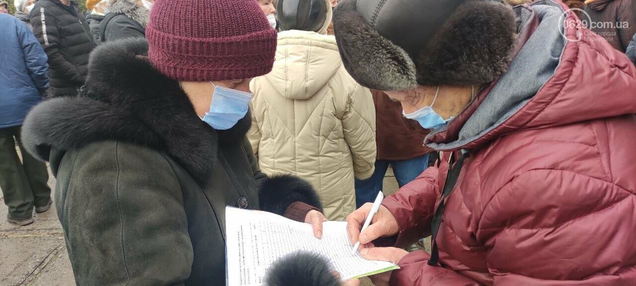 Тарифный митинг. Активистов не пустили на сессию Мариупольского горсовета, - ФОТОРЕПОРТАЖ, ВИДЕО, фото-22