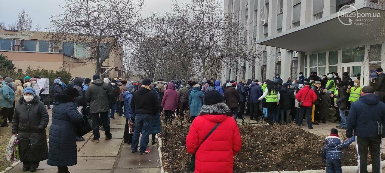 Тарифный митинг. Активистов не пустили на сессию Мариупольского горсовета, - ФОТОРЕПОРТАЖ, ВИДЕО, фото-2