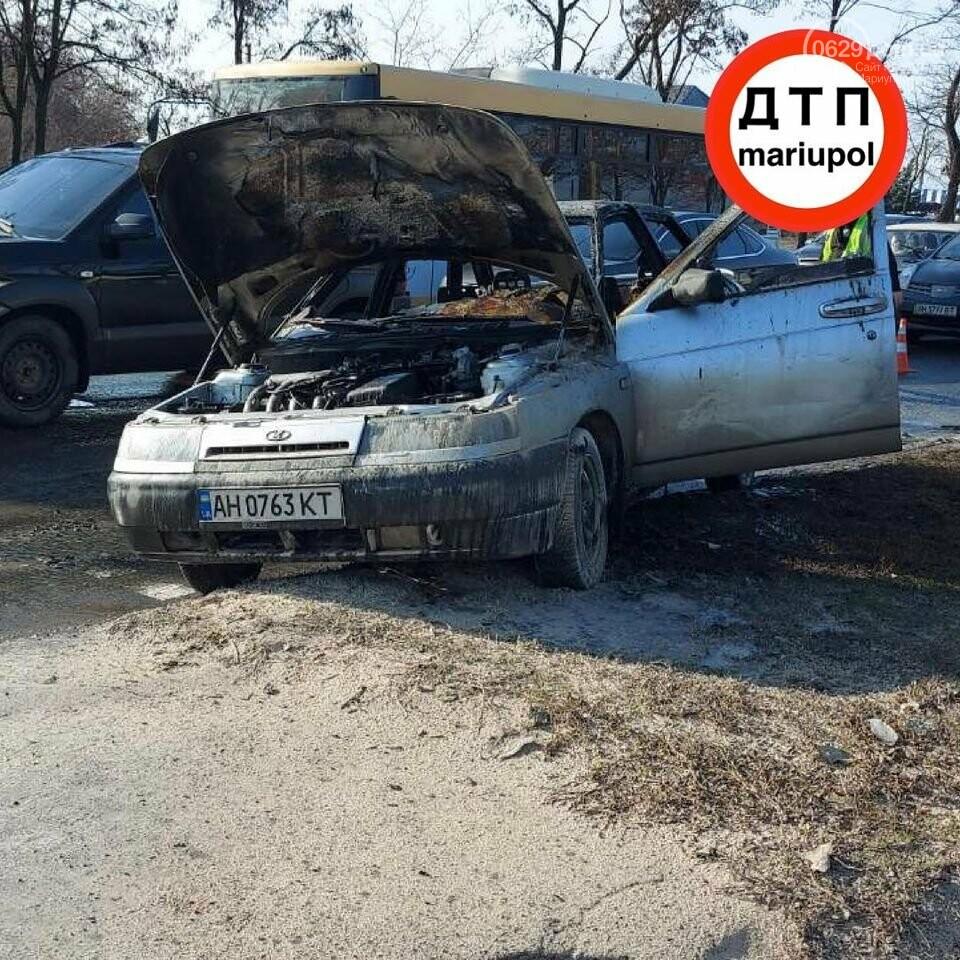 В Мариуполе загорелось авто, - ФОТО, фото-1