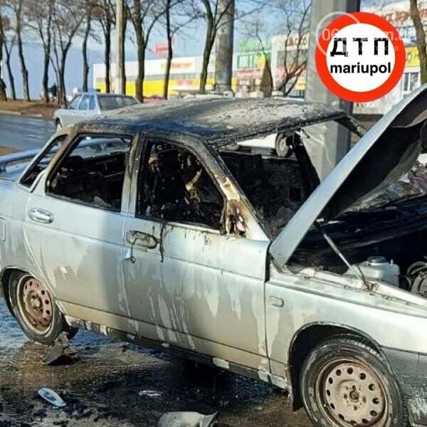 В Мариуполе загорелось авто, - ФОТО, фото-4