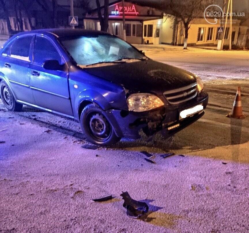 В Мариуполе на заснеженной дороге столкнулись Honda и Chevrolet, - ФОТО, фото-5