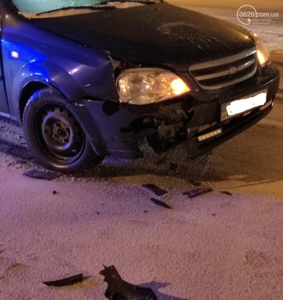 В Мариуполе на заснеженной дороге столкнулись Honda и Chevrolet, - ФОТО, фото-4
