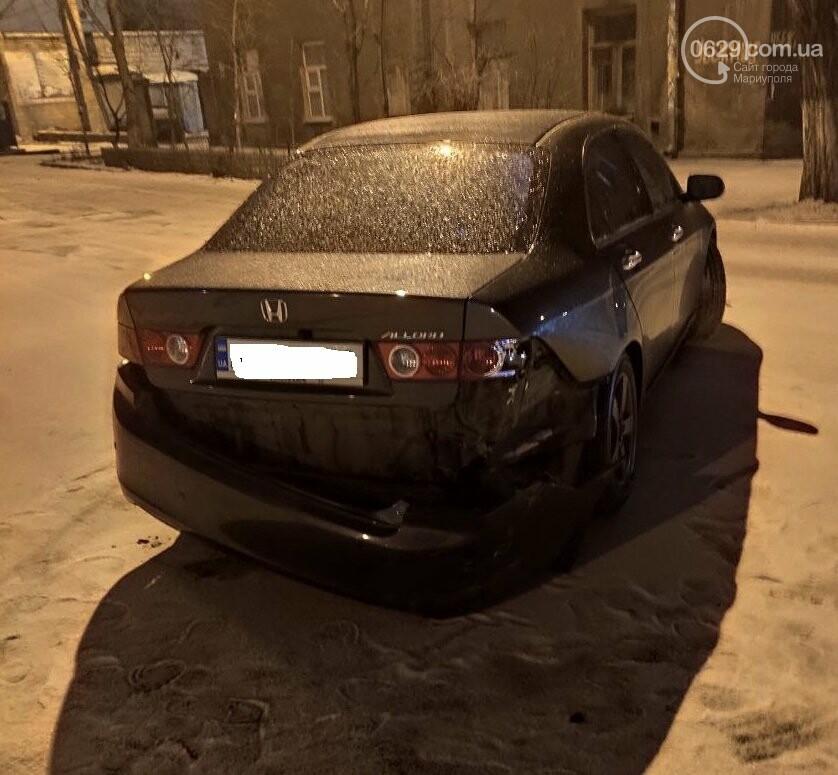 В Мариуполе на заснеженной дороге столкнулись Honda и Chevrolet, - ФОТО, фото-3