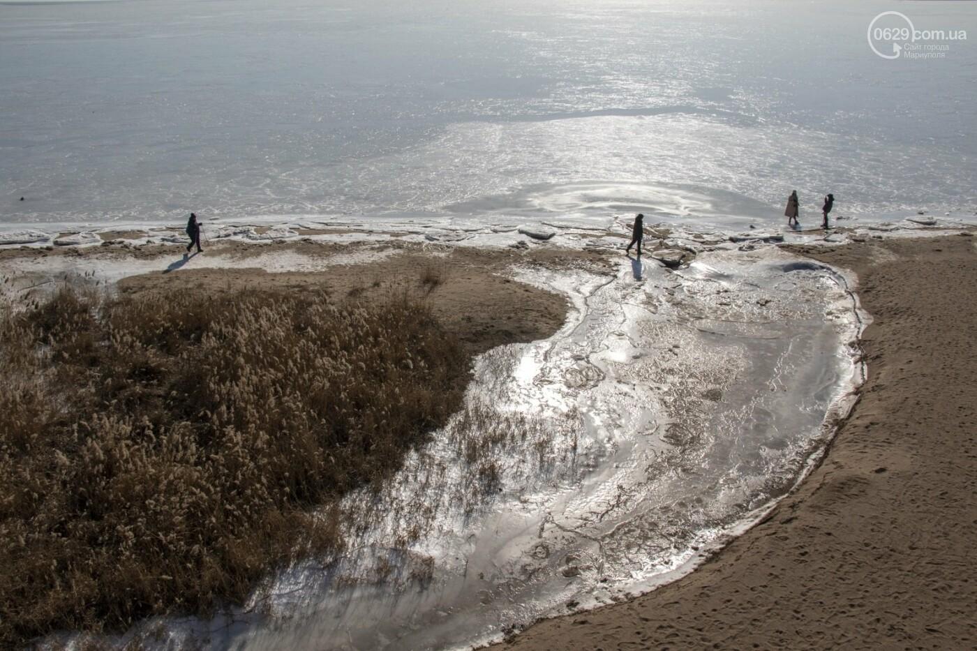 Встать в центр моря и не утонуть. 20 фотографий зимнего Азова в Мариуполе, - ФОТОРЕПОРТАЖ, фото-9