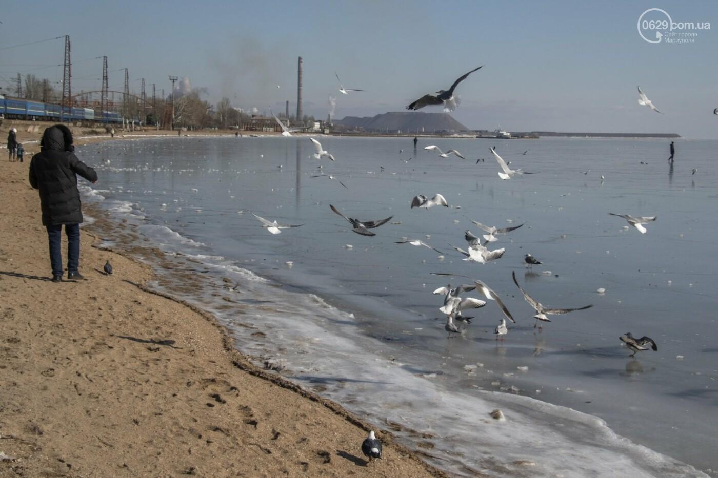 Встать в центр моря и не утонуть. 20 фотографий зимнего Азова в Мариуполе, - ФОТОРЕПОРТАЖ, фото-6