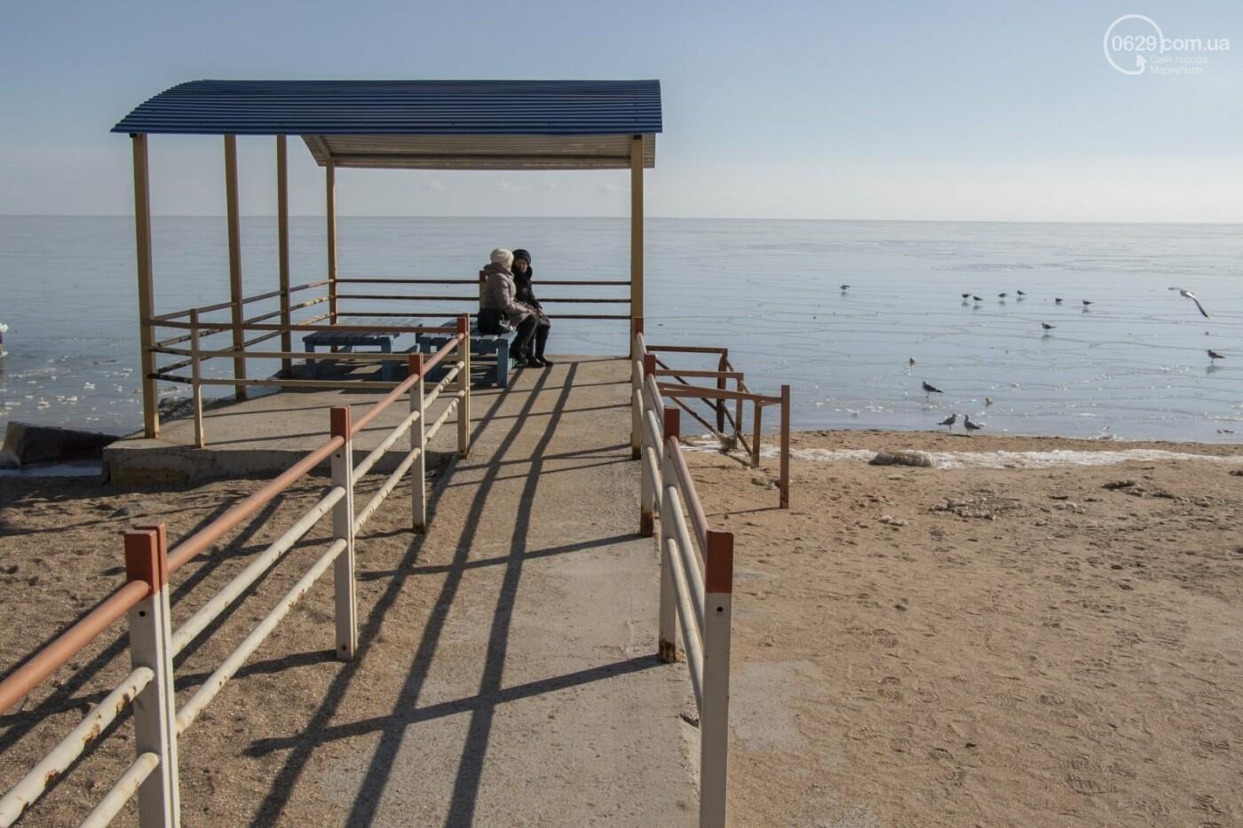 Встать в центр моря и не утонуть. 20 фотографий зимнего Азова в Мариуполе, - ФОТОРЕПОРТАЖ, фото-17