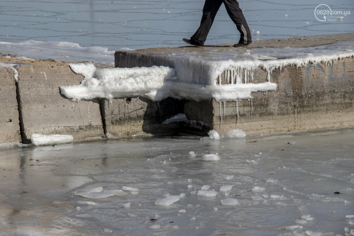 Встать в центр моря и не утонуть. 20 фотографий зимнего Азова в Мариуполе, - ФОТОРЕПОРТАЖ, фото-1