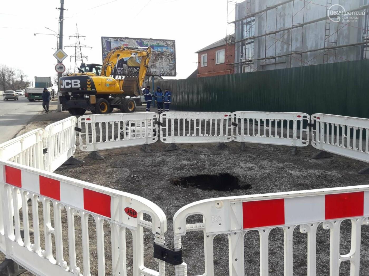 Регулярно раз в год. В Мариуполе на Митрополитской снова масштабная авария на канализационном коллекторе, фото-7