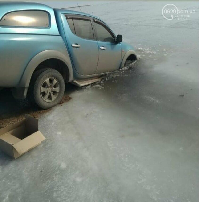 На Левобережье автомобиль провалился под лед, - ФОТО, ВИДЕО, фото-2