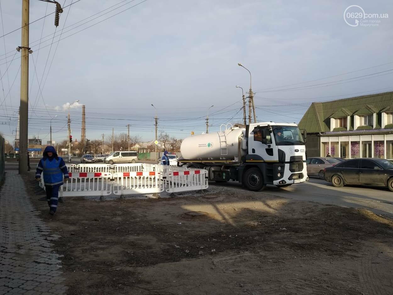 Проезд открыт! В Мариуполе завершился ремонт канализационного коллектора, фото-1