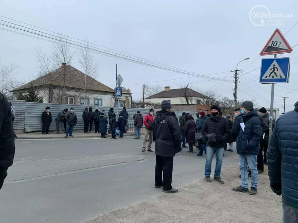 В Мариуполе сотрудники судоремонтного завода перекрыли дорогу,- ФОТО, ВИДЕО, фото-1