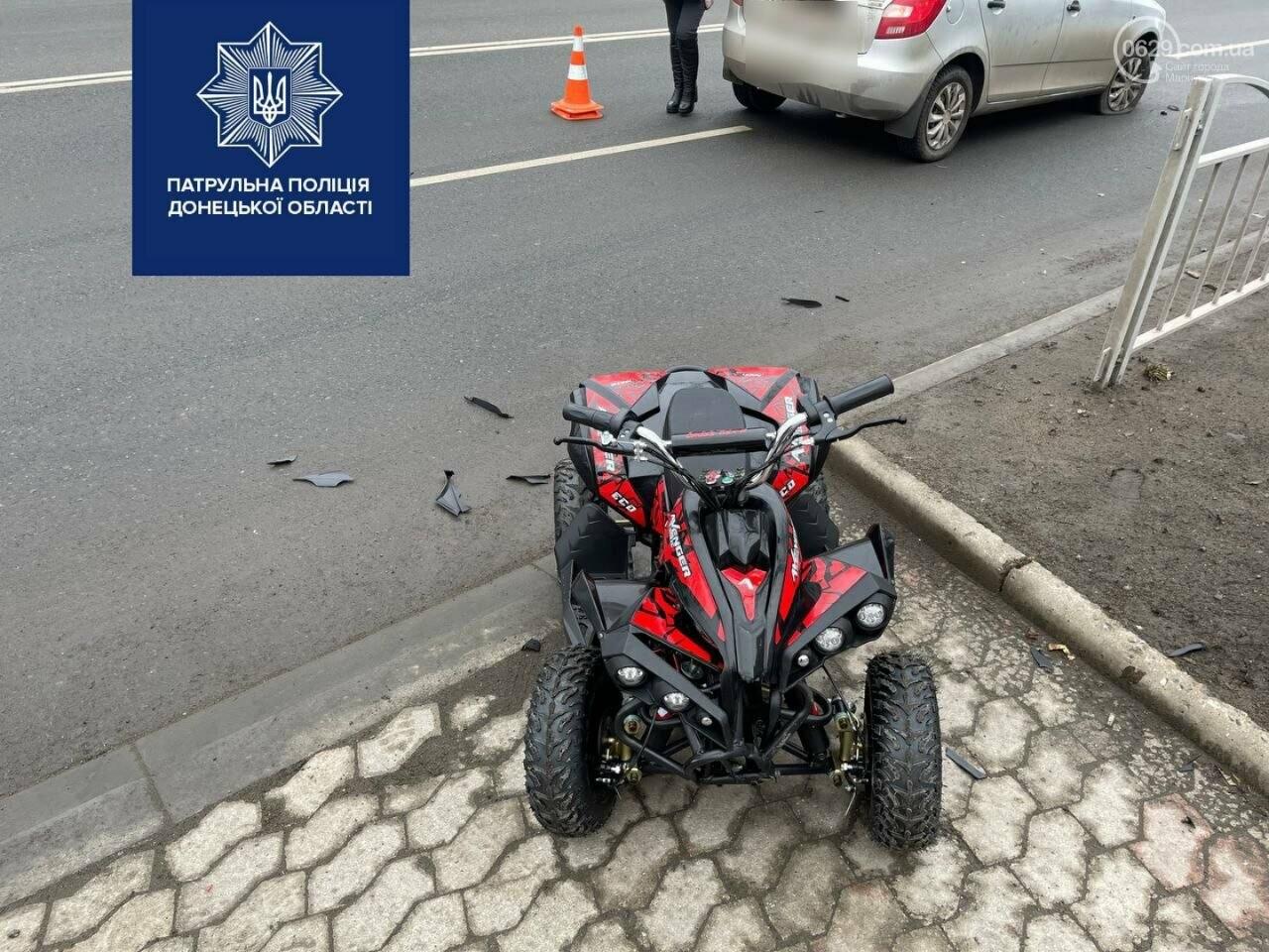 В Мариуполе ребёнок на квадроцикле попал под  колеса авто,- ФОТО, фото-3