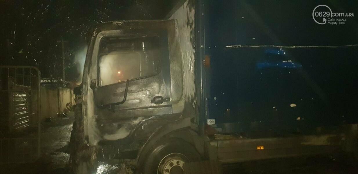 В Мариуполе загорелся большегруз, - ФОТО, фото-1
