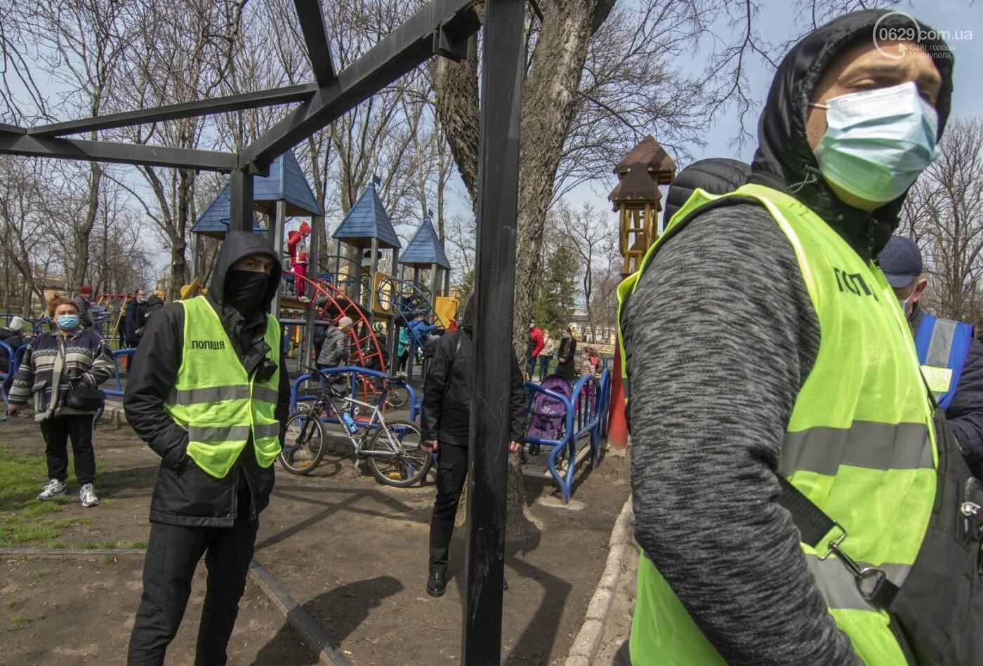 Мариупольцы возле забора Метинвеста спасали Городской сад от частного вуза,- ФОТО, ВИДЕО, фото-19