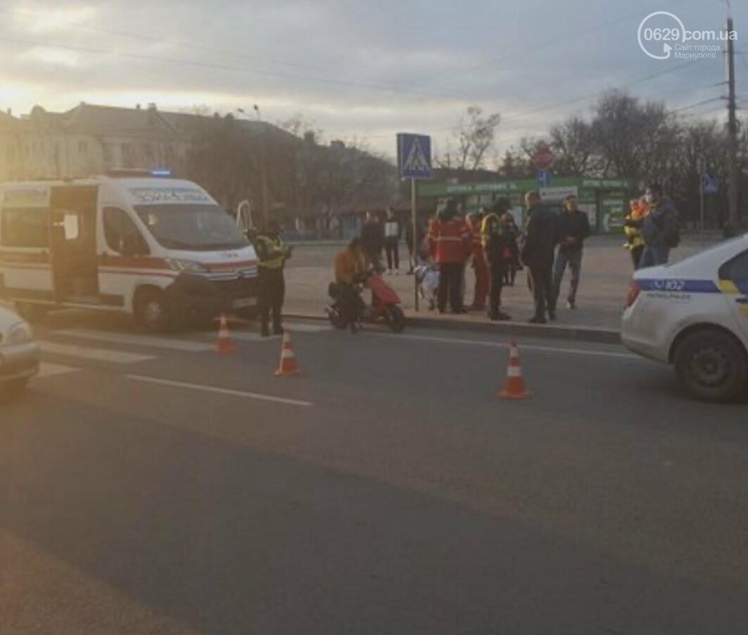 В Мариуполе 15-летний скутерист сбил женщину с коляской , фото-2