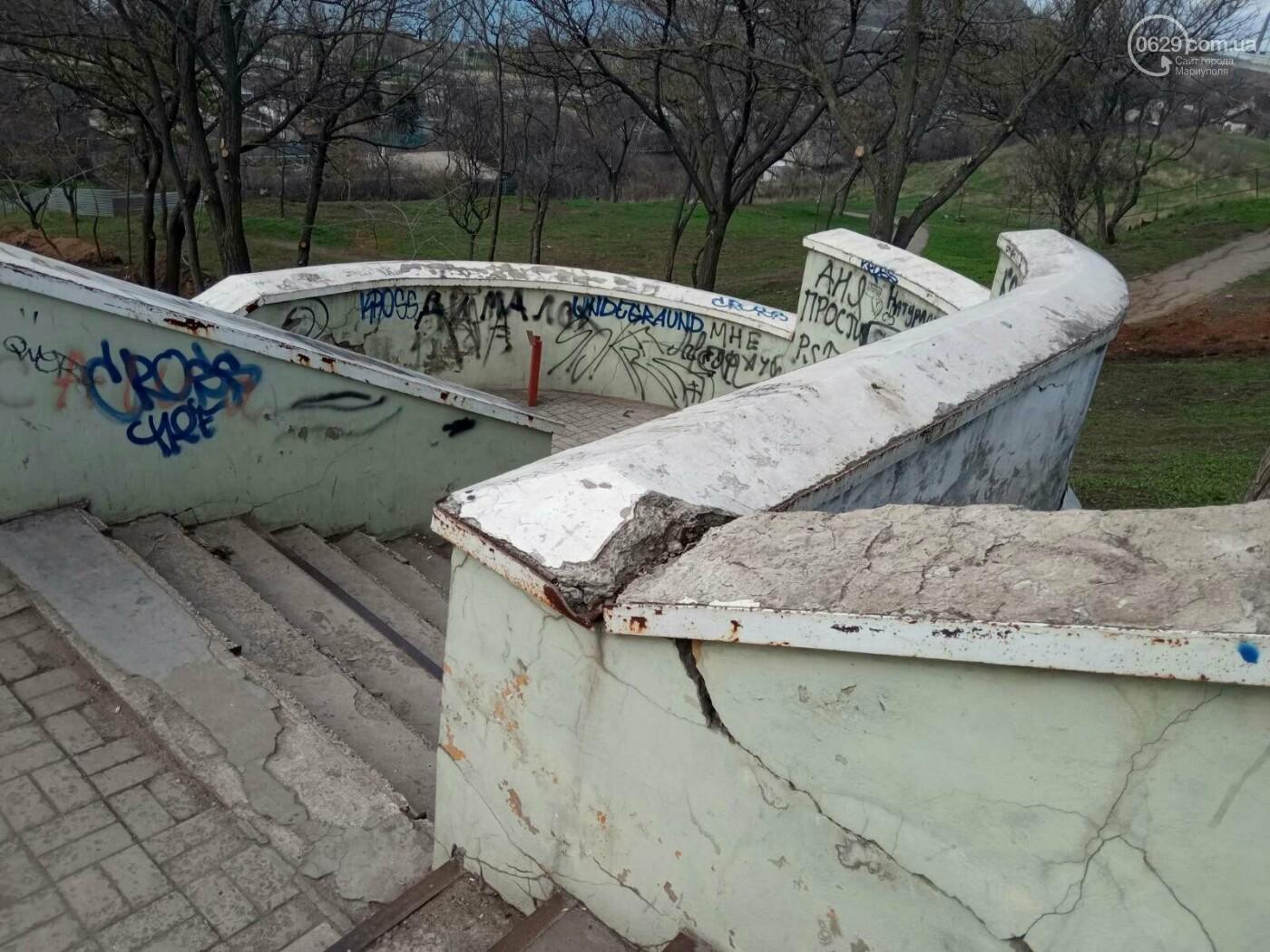 Глобальная реконструкция. В Мариуполе ремонтируют спуск к морю, - ФОТОРЕПОРТАЖ, фото-3