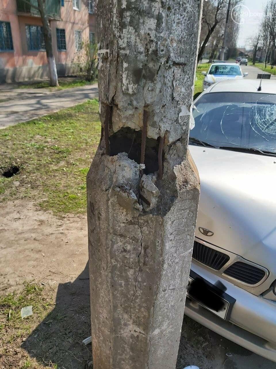 В Мариуполе таксист на Daewoo  влетел в столб, - ФОТО, фото-5