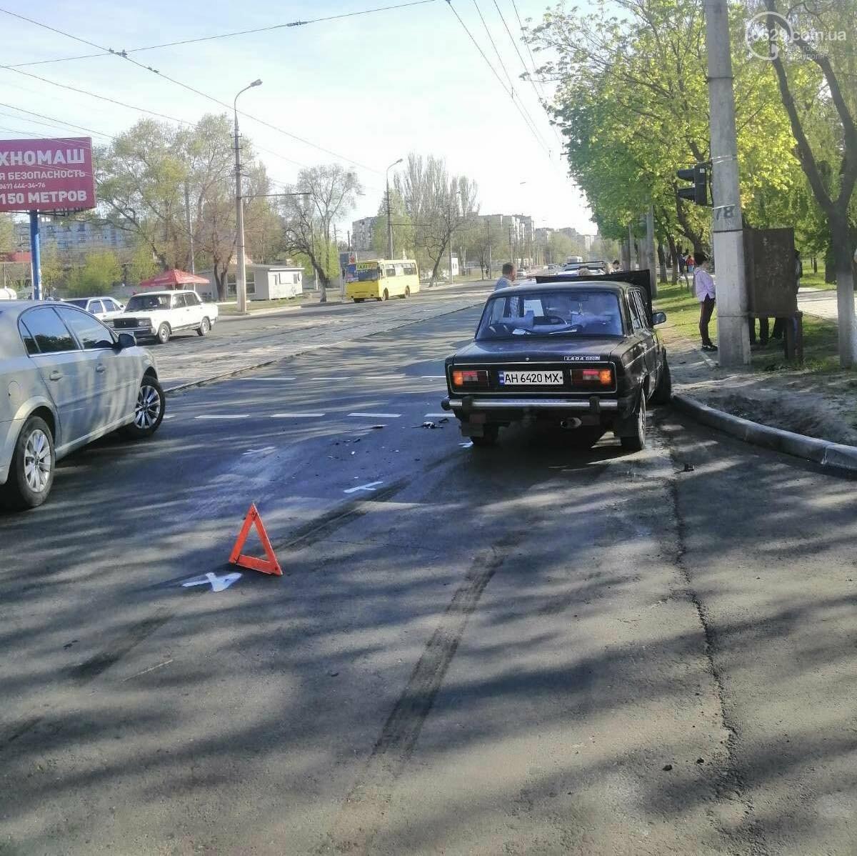 """В Мариуполе Hyundai поехал на """"красный"""" и врезался в ВАЗ, - ФОТО, фото-5"""