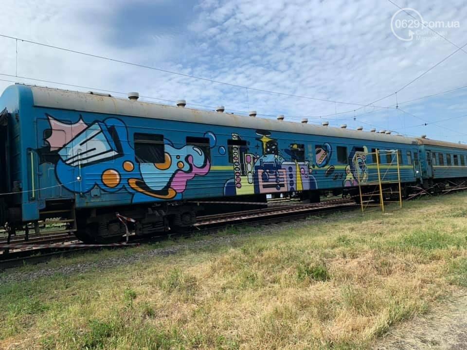 В Мариуполе художники со всей Украины захватили поезд, - ФОТО, ВИДЕО, фото-4