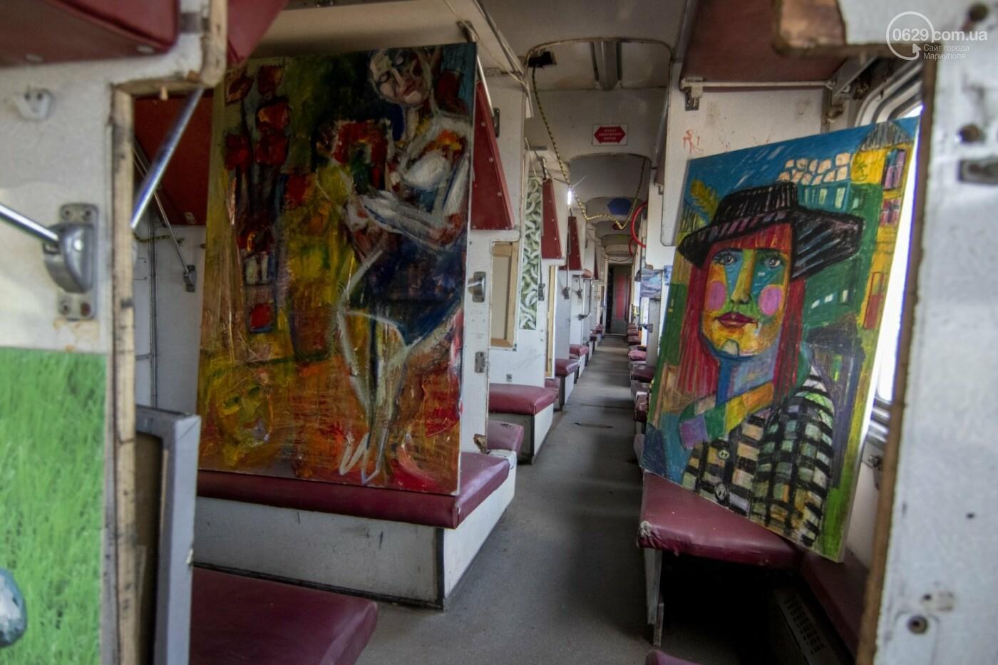Во что превратили художники старый железнодорожный состав в Мариуполе. 33 фотографии! , фото-11