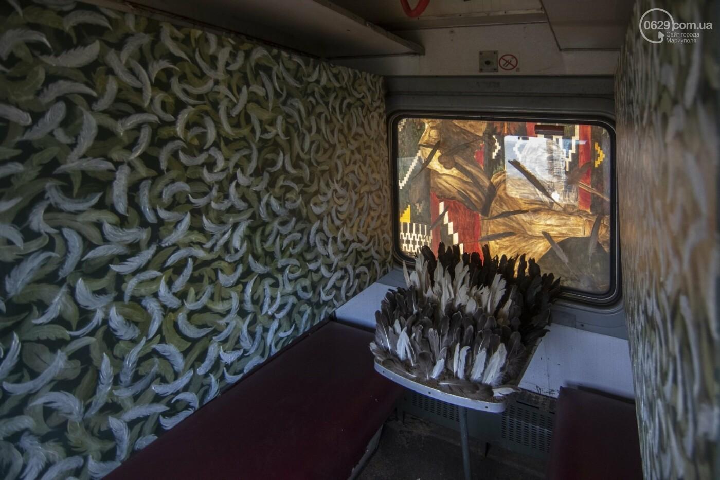 Во что превратили художники старый железнодорожный состав в Мариуполе. 33 фотографии! , фото-13