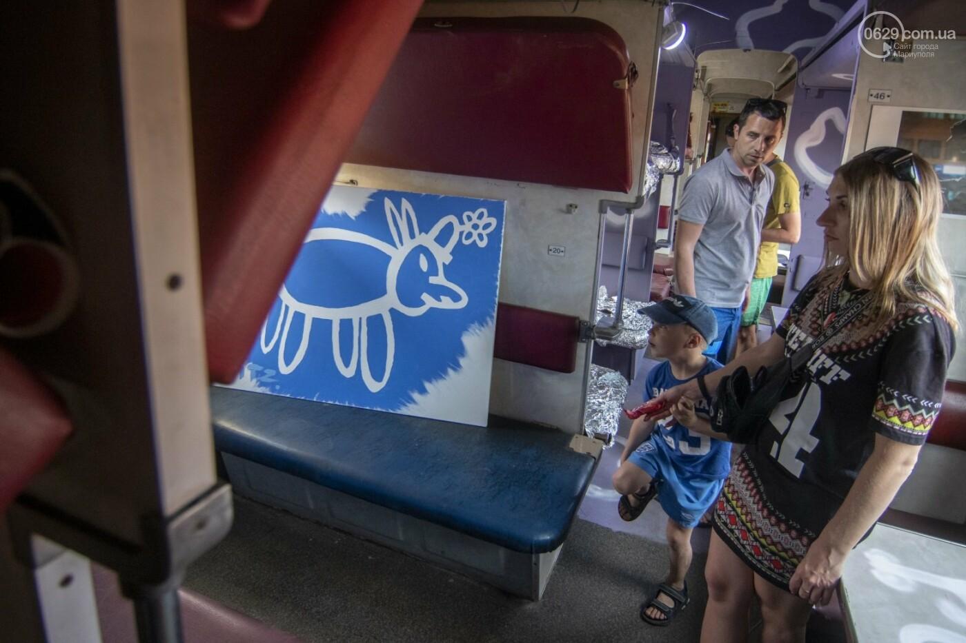 Во что превратили художники старый железнодорожный состав в Мариуполе. 33 фотографии! , фото-20