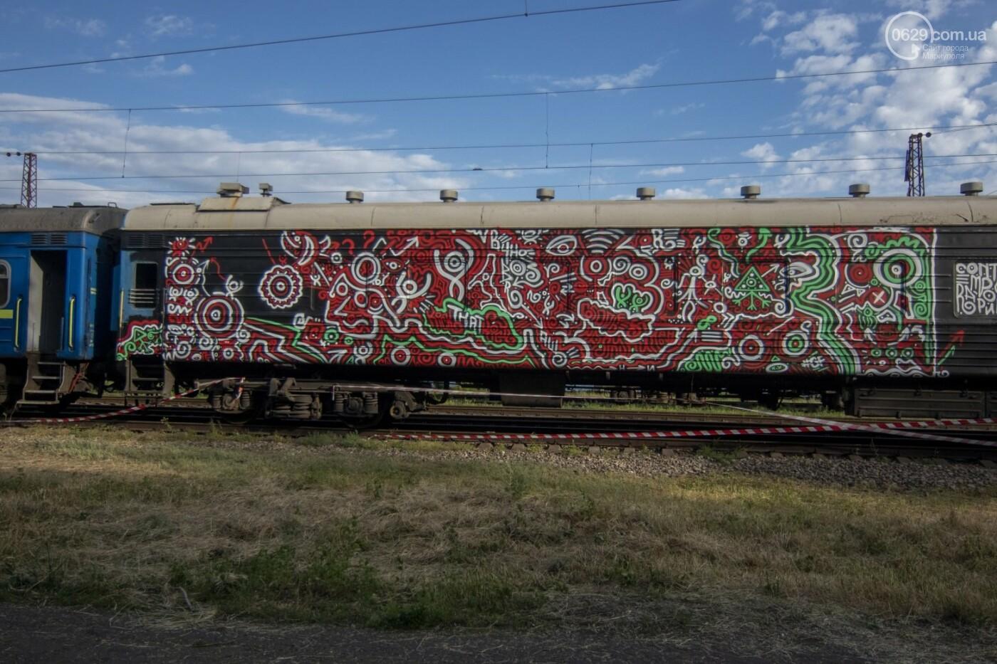 Во что превратили художники старый железнодорожный состав в Мариуполе. 33 фотографии! , фото-5