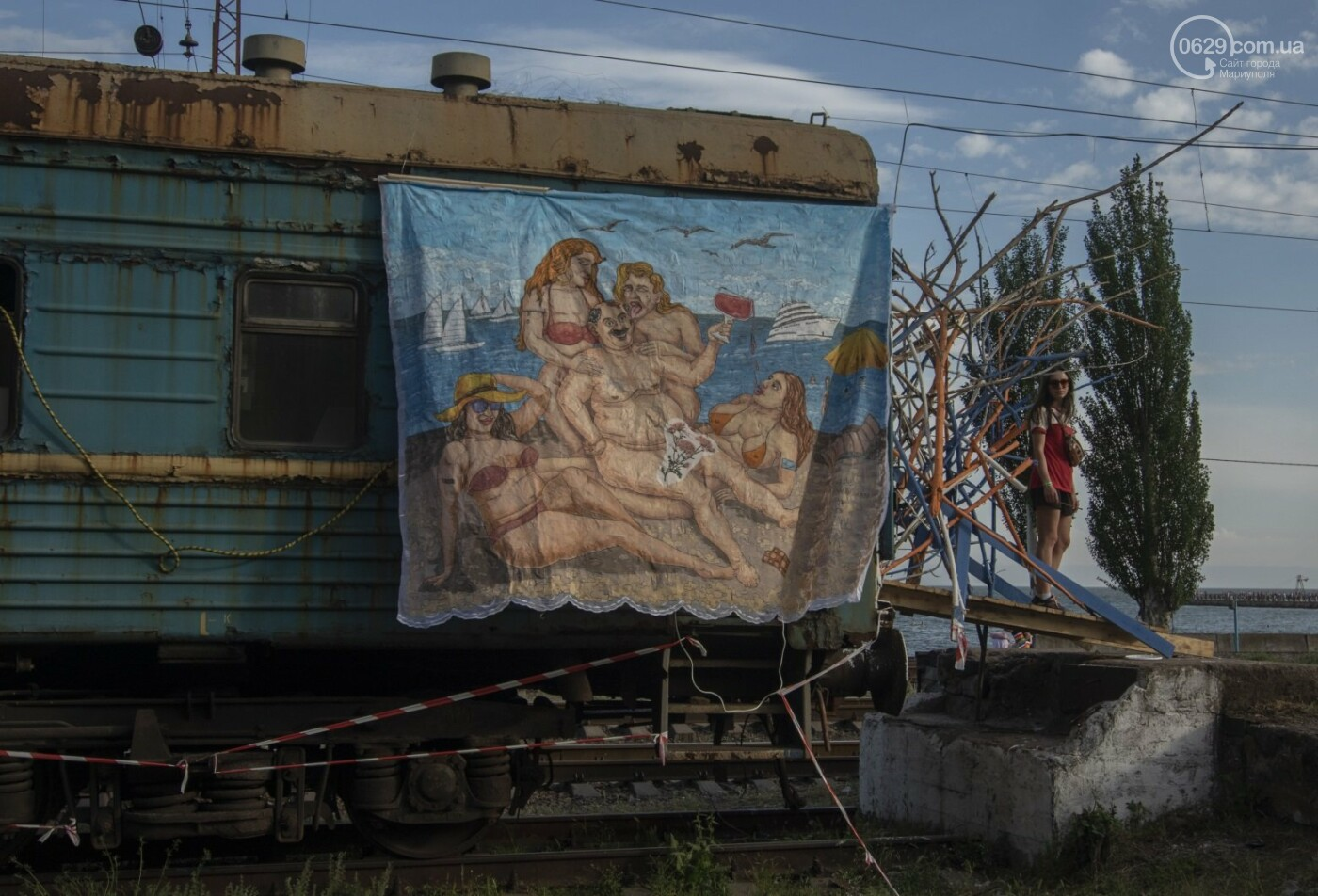Во что превратили художники старый железнодорожный состав в Мариуполе. 33 фотографии! , фото-6